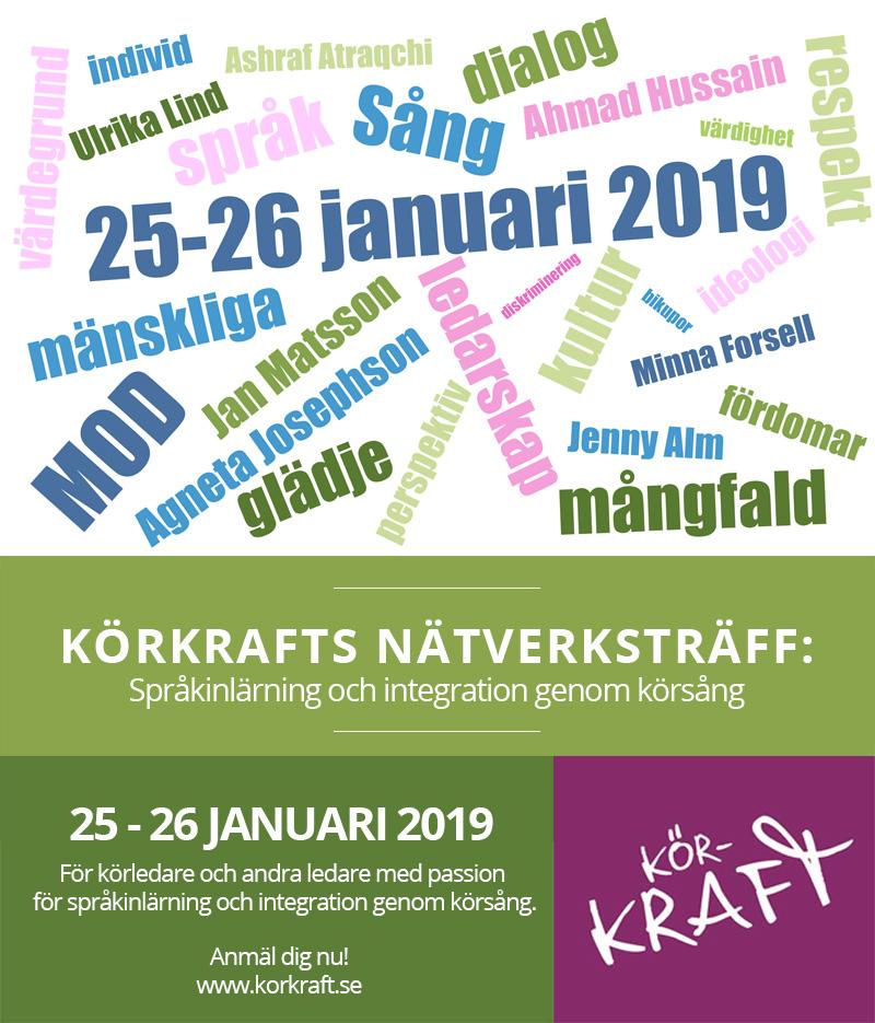 Nästa nätverksträff 25-26 Januari