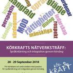 KÖRKRAFTS NÄTVERKSTRÄFF 28-29 SEPTEMBER